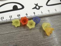 Akryylihelmi kukka, 6x10mm, mixsetti, 20kpl