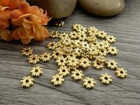 Metallihelmi, 4x1.3mm, kulta, 100kpl