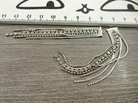 Timanttiketjuriipus, 79x10mm, kromi, 1kpl