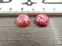 Kapussi kimalle, 12mm, pinkki, 1kpl
