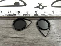 Kapussipohja pisara, 12mm, musta, 1kpl