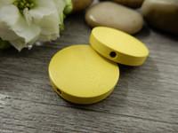 Puuhelmi, 20mm, keltainen, 1kpl