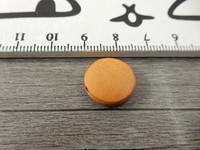 Puuhelmi, 15mm, okra, 1kpl