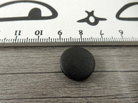 Puuhelmi, 15mm, musta, 1kpl