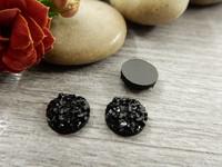 Kapussi glitter, 8mm, musta, 1kpl