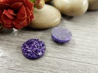 Kapussi glitter, 10mm, liila, 1kpl
