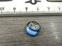 Kapussi pöllö, 12mm, sininen, 1kpl