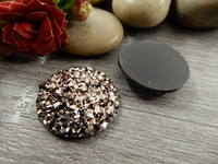 Kapussi glitter, 20mm, ruskea, 1kpl