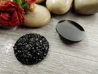 Kapussi glitter, 20mm, musta, 1kpl