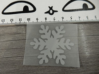 Heijastava kuva lumihiutale, 4.5x5cm, 1kpl