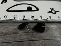Korvakorutappi lenkillä, 11x12mm, musta, 1pari
