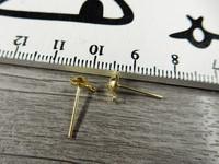 Korvakorutappi lenkillä, 4x13mm, kulta, 5 paria