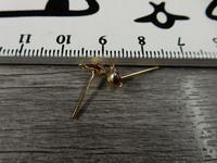 Korvakorutappi lenkillä, 4x13mm, vaaleakulta/vaalea ruusukulta, 5 paria