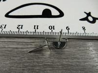 Korvakorutappi lenkillä, 8x13mm, kromi, 5paria