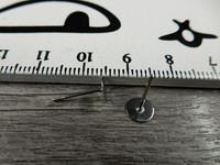 Korvakorutappi , 6x13mm, kromi, 5paria