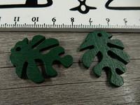 Lehtiriipus, 30x23mm, tummanvihreä/puu, 1kpl