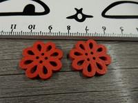 Kukkariipus, 20mm, punainen/ puu, 1kpl