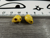 Pääkallo kivihelmi, 9x10x8mm, keltainen, 1kpl
