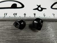 Pääkallo kivihelmi, 9x10x8mm, musta, 1kpl