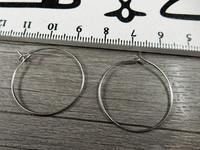 Korvakorurengas, 25mm, kromi, 1pari