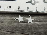 Tähtiriipus, 10x9mm, valkoinen, 1kpl