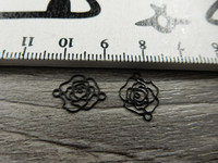 Ruusuriipus/linkki, 10x13mm, musta, 1kpl