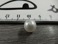 Akryylihelmi, 10mm, valkoinen, 1kpl