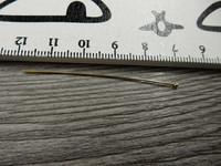 Korupiikki pallopää, 50x0,5mm, kulta, 100kpl