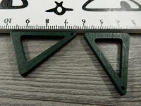 Kolmio puuriipus, 32x25x2.5mm, vihreä, 1kpl