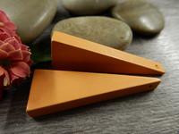 Kartio puuriipus, 40x14mm, oranssi, 1kpl