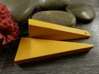 Kartio puuriipus, 40x14mm, keltainen, 1kpl