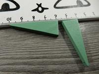 Kartio puuriipus, 40x14mm, vihreä, 1kpl