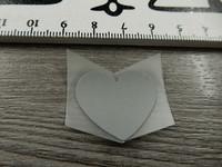 Heijastava kuva, sydän, 2.5x2.3cm, 1kpl
