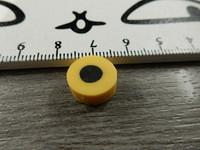 Fimohelmi, n.12mm, keltainenlaku, 1kpl