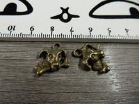 Koirariipus, 15x15mm, pronssi, 1kpl