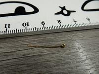 Korupiikki pallopää, 20x0,4mm, kulta, 100kpl