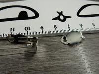 Korvakoruklipsi, 10mm, kirkashopea, 1pari
