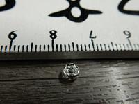 Rondelli, 4mm, kromi/kirkas strassi, 20kpl