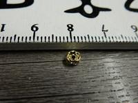 Rondelli, 4mm, kulta/kirkas strassi, 20kpl