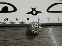 Shamballa helmi, 10mm, kirkas, 1kpl