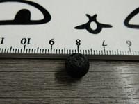 Laavakivihelmi, 8mm, musta, 1kpl