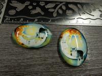Kapussi kuu ja kissat, 18x25mm, värikäs, 1kpl