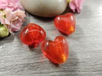 Lamppuhelmi sydän, 13x13x8mm, punainen, 1kpl