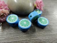 Fimohelmi, 10mm, sininen/vihreä, 1kpl