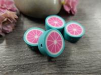 Fimohelmi, 10mm, minttu/pinkki, 1kpl