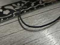 Joustokuminauha, 1mm, musta, 1m