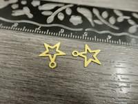 Tähtiriipus, 11x10mm, keltainen, 1kpl