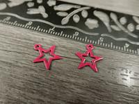 Tähtiriipus, 11x10mm, pinkki, 1kpl