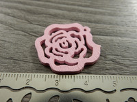 Kukkariipus, 25mm, vaaleanpunainen/puu, 1kpl