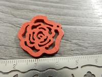 Kukkariipus, 25mm, punainen/puu, 1kpl